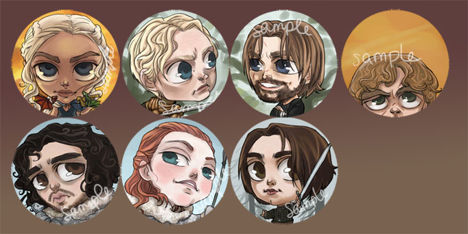 Game of Thrones Buttons by perishing-twinkie