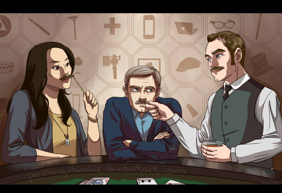 Three Mustachios by perishing-twinkie