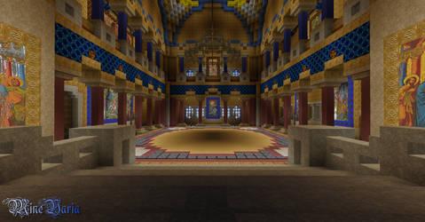 Neuschwanstein Throne Room by Palando