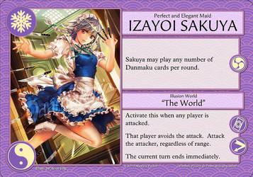 Character Card Izayoi Sakuya by mysteryparfait
