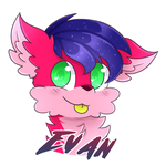 Evan badge (Commission)