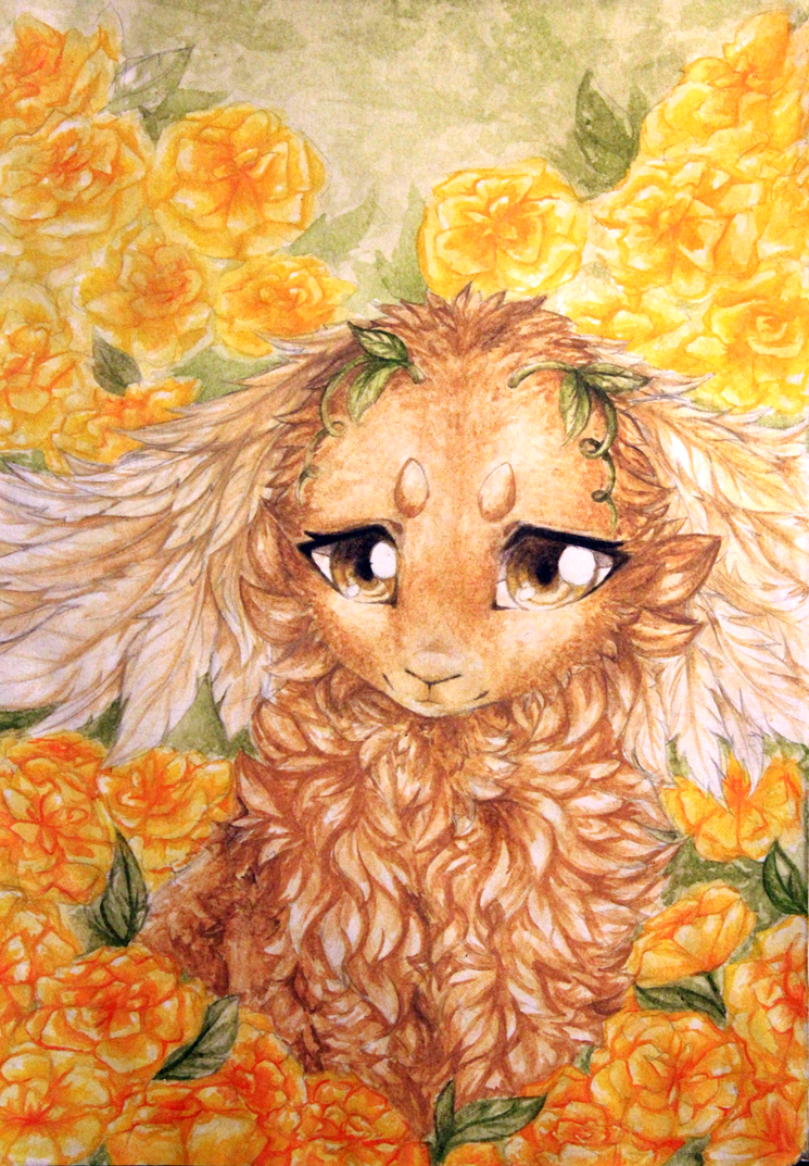 The yellow rose by LiaBorderCollie