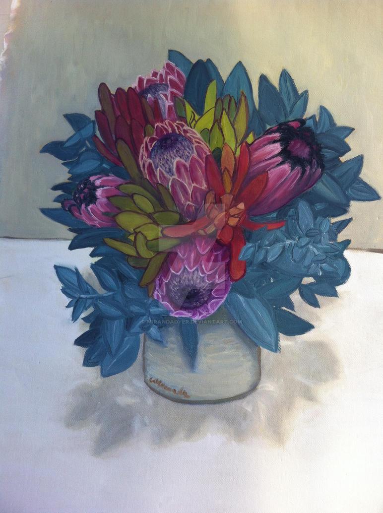 First Bouquet still life by MirandaDyer