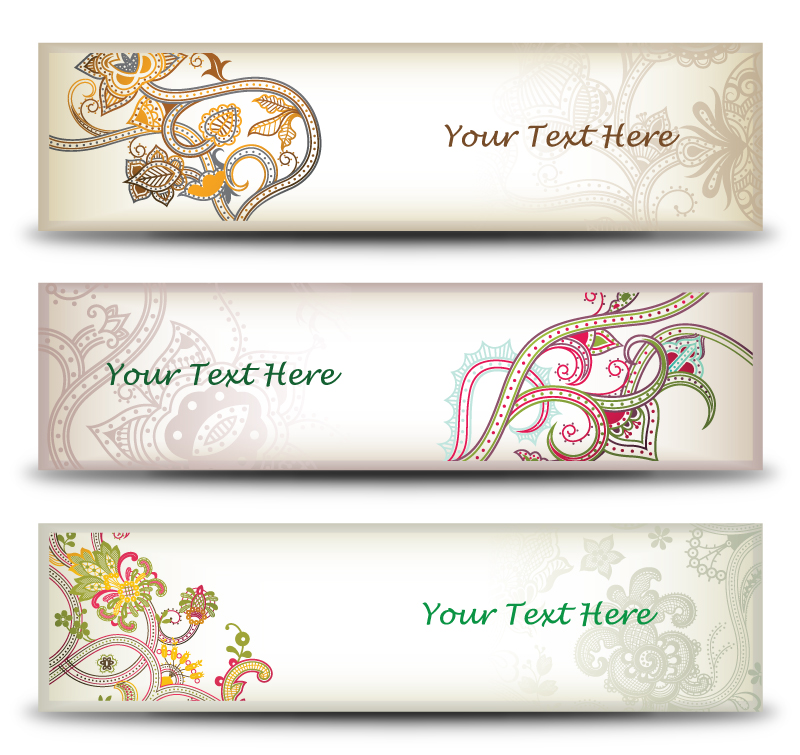 Flower Ornament Banners vector graphic by pic2graf on ...