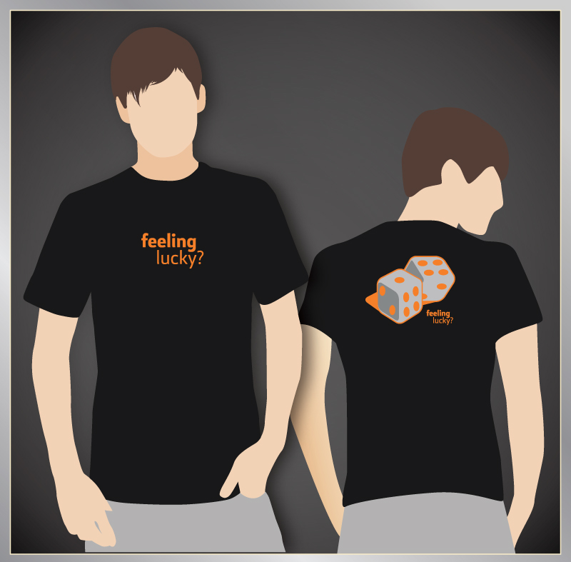 Feeling lucky t shirt vector graphic by pic2graf on deviantart for Vector art for t shirts