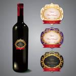 Exclusive Wine Label vector graphic