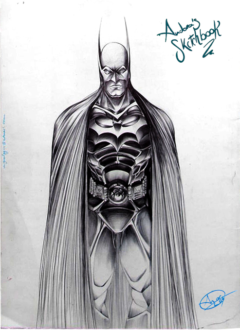 Batman sketch on TNT by Andora