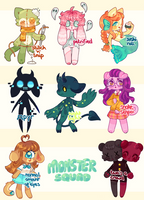 MONSTER SQUAD ADOPTS [1/8 OPEN] by hoppyforest