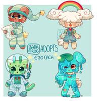 Anthro Adopts- 4/4 OPEN by hoppyforest