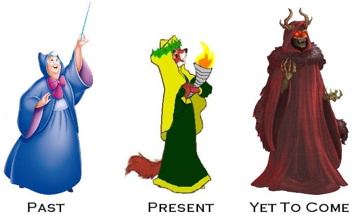 A Disney Christmas Carol's Three Spirits by HewyToonmore on DeviantArt