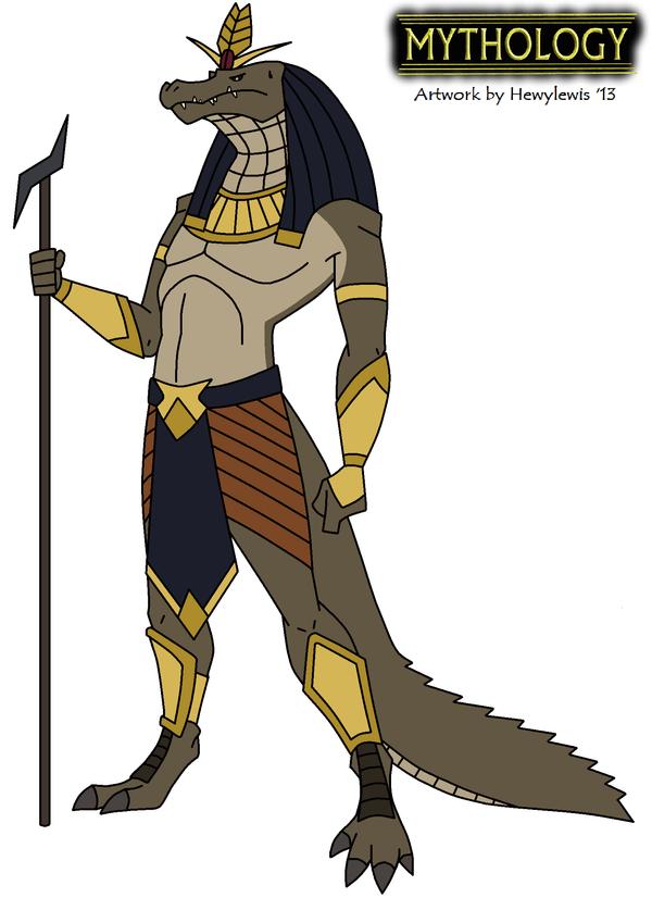 Egyptian God Sobek Drawing