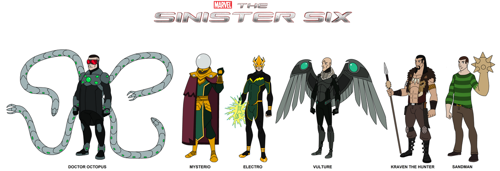 Marvel - The Sinister Six 2017 by HewyToonmore on DeviantArt