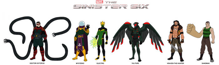 Marvel - The Sinister Six 2019 by HewyToonmore