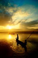 Sunset At Sumurup by pelacurseni