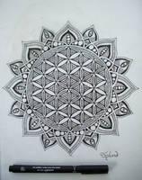 Flower Of Life Mandala by Splund-Art