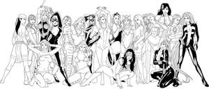 marvel hotties v2 line art