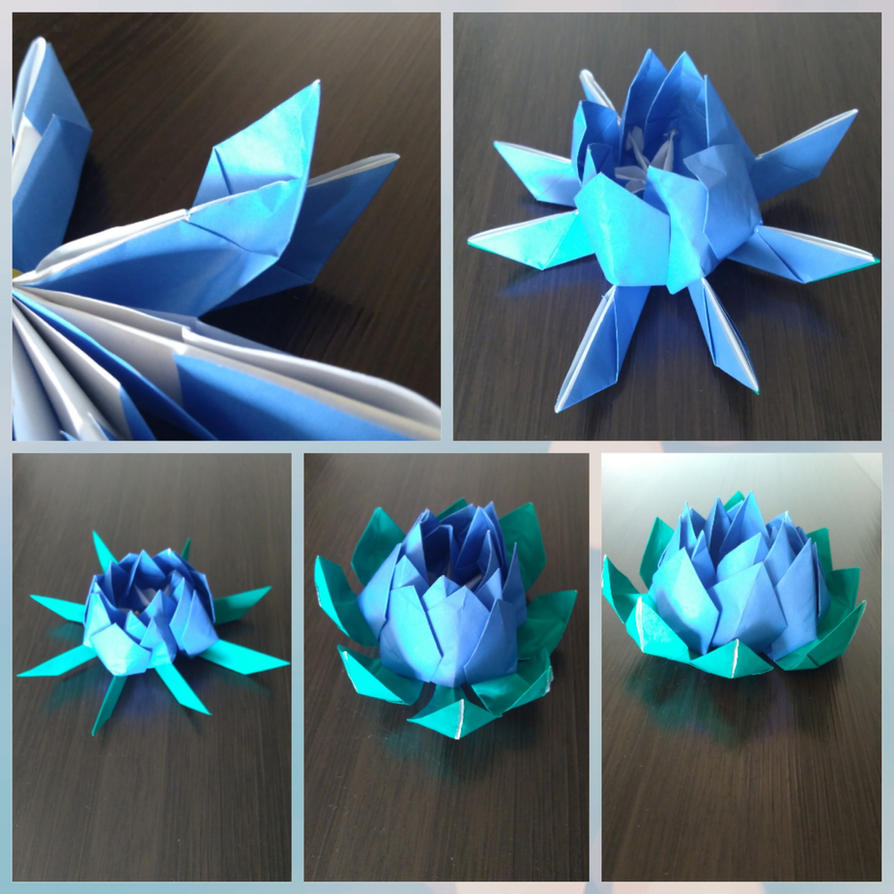 Tutorial Origami Lotus Flower Part 3 By Kayuhini On Deviantart