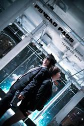 Psycho Pass -- Kougami and Akane by Hikari-Kanda