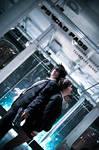Psycho Pass -- Kougami and Akane