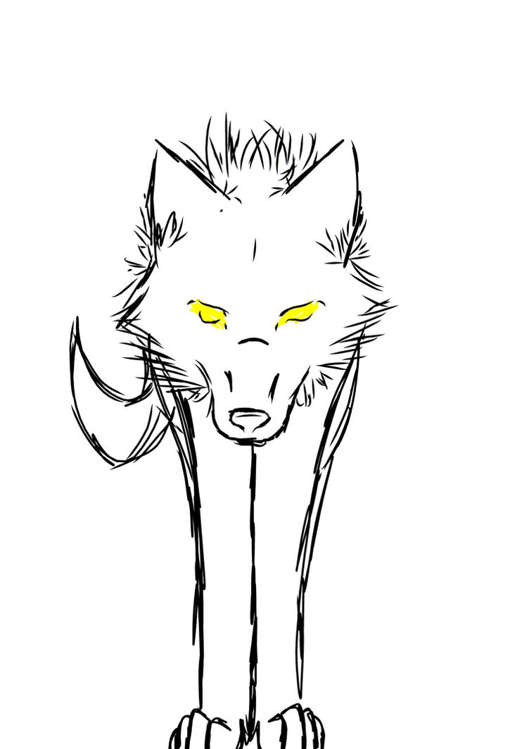 Simple Wolf Sketch by dkPally on DeviantArt