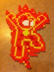 The Human Torch Mega Man-ized bead sprite by Flames2Earth
