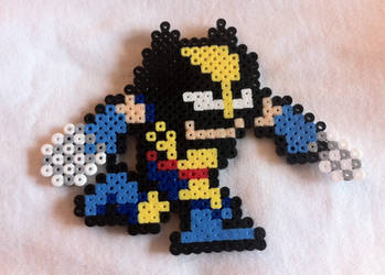Wolverine Mega Man-ized bead sprite by Flames2Earth