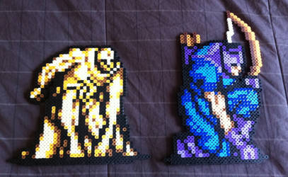 Vision and Hawkeye Bead Sprites by Flames2Earth