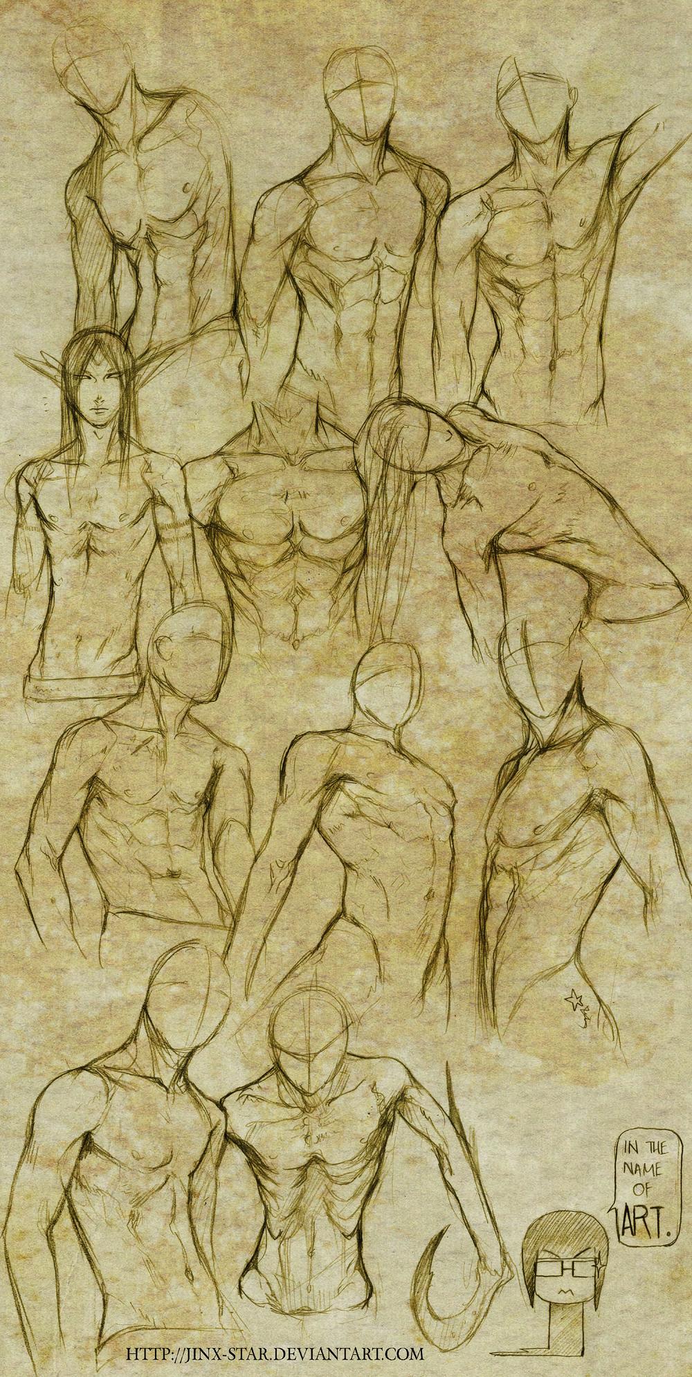+MALE BODY STUDY I+ by jinx-star