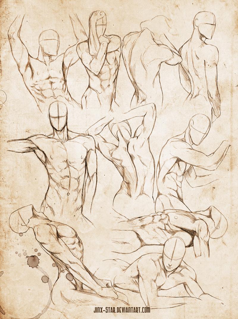 man body drawing - 736×988