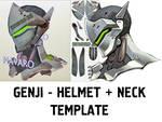 GENJI HELMET - Printable Template / Pepakura / PDF