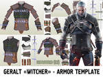 Witcher Armor Template - Geralt Armor Pepakura