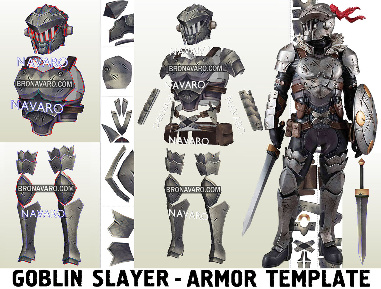 Goblin Slayer Cosplay Armor Eva Foam Template