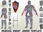 Medieval Knight Plate Armor Foam Template