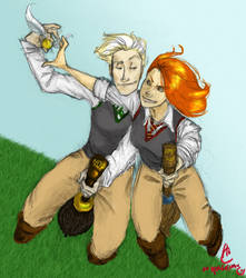 Draco and Ginny by Niphredill