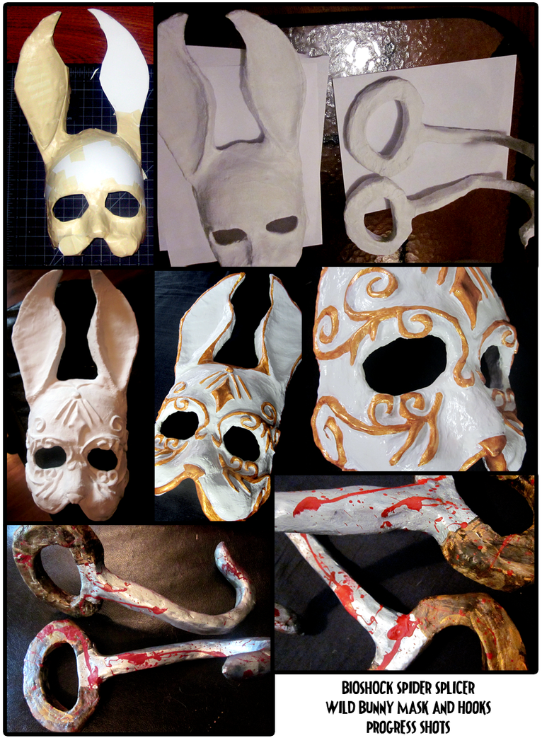 Splicer Mask and Hook Progress by berrynerdy