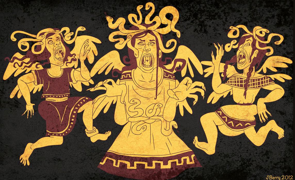Euryale Greek Mythology The Gorgons Picture, T...