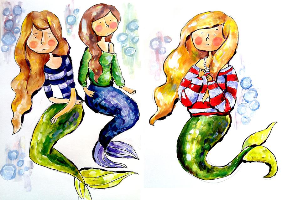 Mermaids in Sweaters by berrynerdy