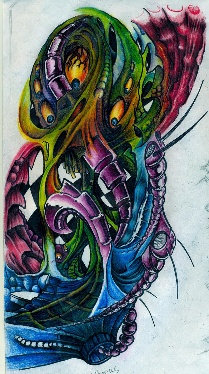 biomechanical something by INNENSEITER on DeviantArt