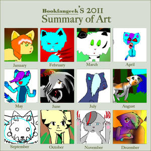 Bookfangeek's 2011 summary of art