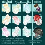 [OPEN] Gacha! YCHs by bookfangeek