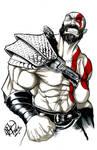 Kratos GoW 4 - Inktober day 6