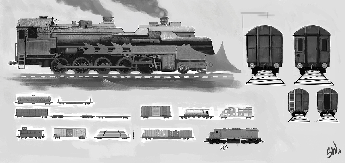 Steampunk Train Concept Art Steampunk Train Concept by