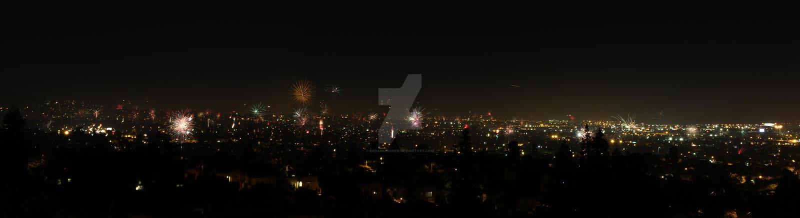East Oakland Skyline: 7/4/13 by badaimarcher on DeviantArt