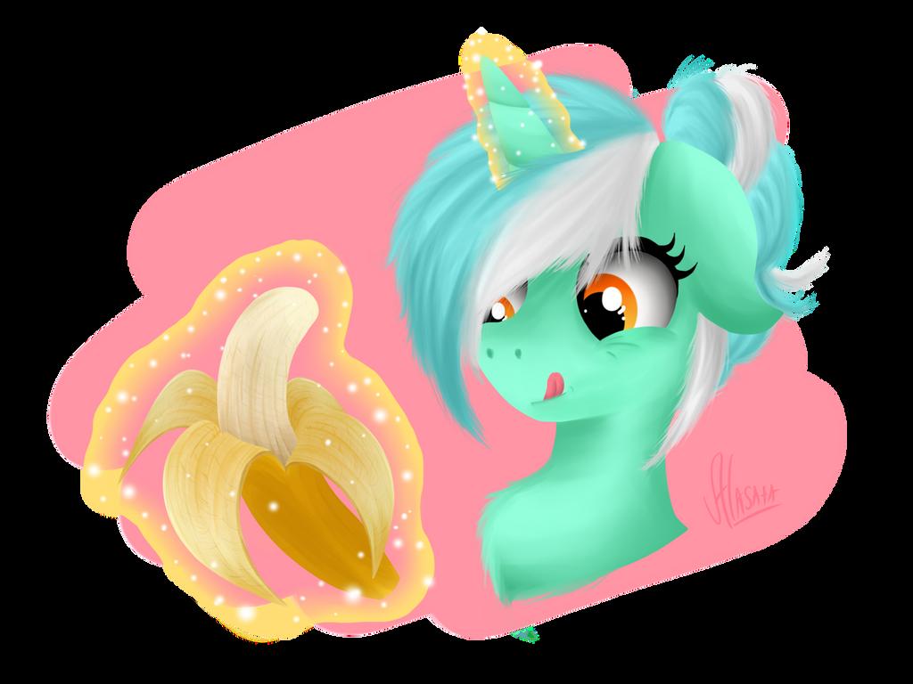 Lyra + Banana by Alasata