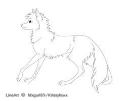 Free Wolf Lineart by Krissyfawx