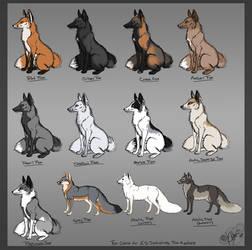Fox av color chart