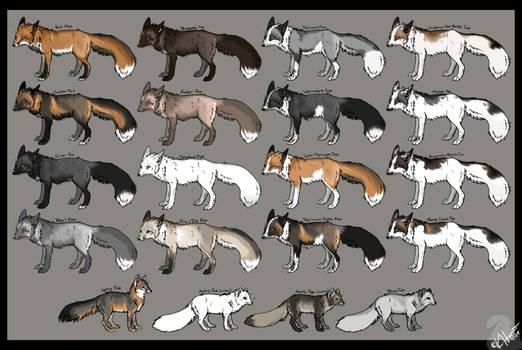 Fox color chart Redux