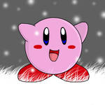 Kirby in the snow