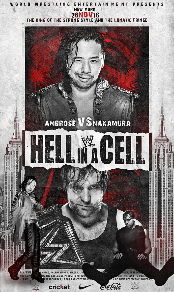 HELL IN A CELL - NAKAMURA vs AMBROSE by fraH2014