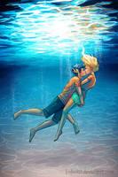 Underwater Kiss by LauraHollingsworth